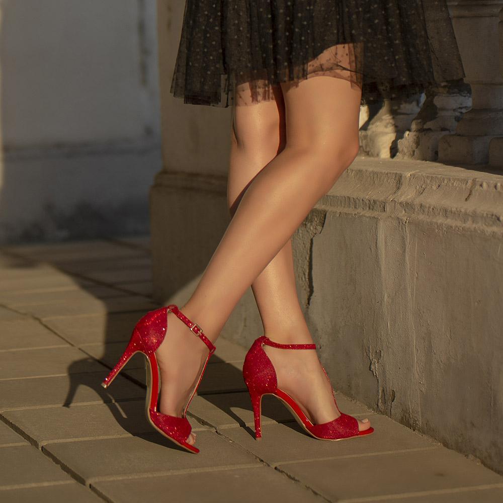 сандали на ток